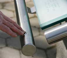 The Raynes Rail - The Braille and Audio handrail - is a ground breaking Universal Design concept