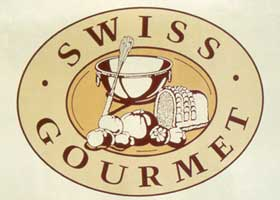 Logo part of the branding of Swiss Gourmet Restaurant | CRA Restaurant Signage and  graphic design services.