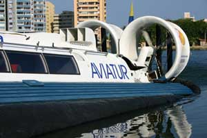 Aviatur Graphic logo on a boat