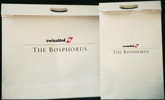 Bags part of the Bosphorus Hotel branding and visual identity | CRA Graphic Design