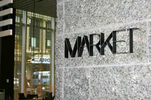 Signage: MARKET of the W Hotelpart of W Hotel branding and visual identity | CRA Graphic Design