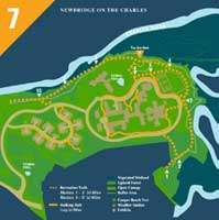 A map part of the wayfinding system of Newbridge on the Charles, Hebrew Senior Life | CRA Design