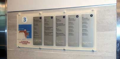 A Directory part of the wayfinding Program in Fall River Justice Center | CRA