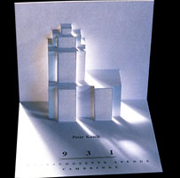 Post card with the 3d logo of 931 Massachusetts Avenue part of the branding designs made by CRA